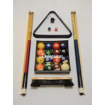 Set Kit Pool 2tacos+triangulo+2tizas+portatiza+bolas+cepillo