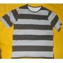 Camiseta Extra Grande Listras Malha Fio30 100% Algodão Pent