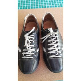 Zapatillas Gola Hombre Negras Con Blanco 44/45