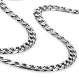 Collar Para Hombre Clásico 316l Acero Inoxidable Plata Caden