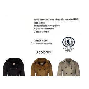 a3f1a81f8b879 Cálido Abrigo Para Mujer Diseño Acinturado Roosevelt Origina · 3 colores