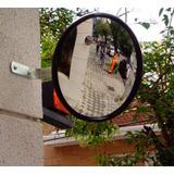 Espelho Convexo De Segurança 40cm Ø Borda Em Alumínio.