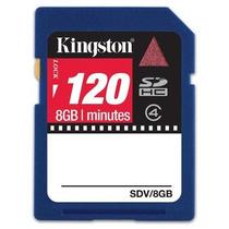 Cartão De Mémória Sdhc 8gb Kingston Originl Video 120 Min Hd