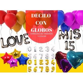Globos Letras Y Numeros Metalizado 14 Cotillon Sergio Once