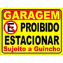 Placa Ps 2mm 40x50 Cm Proibido Estacionar Garagem