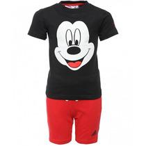 Conjunto Short Playera Disney Mickey Niño Bebe Adidas Ak2549