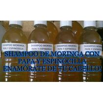Shampoo Extractos Naturales Moringa Papa Y Espinosilla. 1 Lt