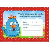 20 Convite Galinha Pintadinha Papel Fotografico 9x12cm N