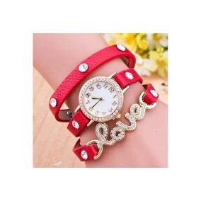 Relógio Feminino Strass Fashion Bracelete Love