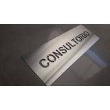 Cartel Señal Consultorio De Acero Inoxidable 30 X 10cm