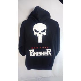 Sudadera Punisher Con Gorro Y Cangurera Ch, M, G Y Xg