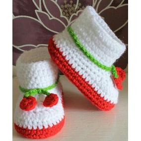Boticas Tejidas, Zapatos, Escarpines Para Bebes