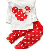 Conjunto Infantil Blusa Minie Minnie E Calca Poa