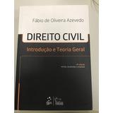 Direito Civil - Introdução E Teoria Geral - Fábio De Oliveir