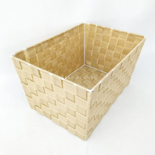 Canasto Canasta Organizador Alto De Tela Plastica Tejida Estructura Metal 34x24x19cm Simil Ratan Oferta Imperdible Bz3