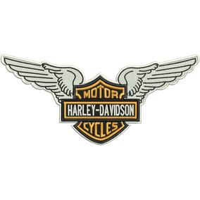 Patch Bordado Hd017 Harley Davidson Asas Logo Motor Grande