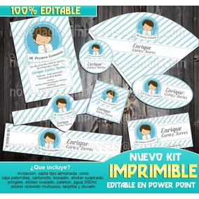 Kit Imprimible Primera Comunión Niño 2018 2x1 Mas Regalos