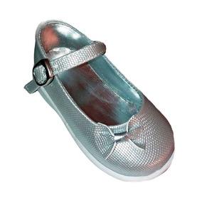 101 - Guillermina N° 18 Plateada Nena Zapato Vestir Fiesta