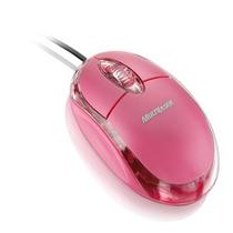 Mini Mouse Óptico Rosa Multilaser Usb Para Pc E Notebook
