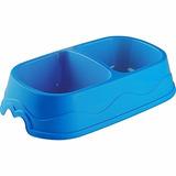 Comedero Para Perro Doble 100g Azul * Español *