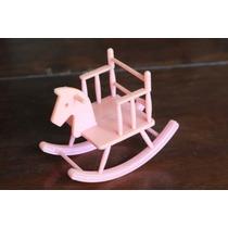 Cadeira De Balanço Cavalinho - Para Boneca Tipo Kelly