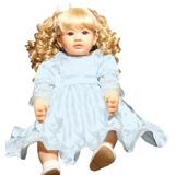 Boneca Reborn Princesa 65 Cm Vestido Silicone E Corpo Pano