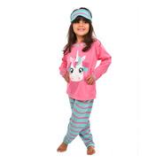Pijama Longo Inverno Bichos Criança Com Máscara De Dormir