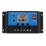 Controlador De Carga Solar 10a, 12 Y 24v, Usb 5v, Lcd, Pwm