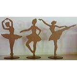 Kit Bailarinas Mdf 30 Cm 21 Unidades Festas E Decorações
