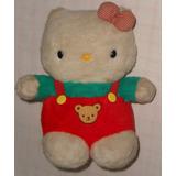 Hello Kitty Macacão Pelúcia Antiga 28cm Sanrio Japão Anos 70