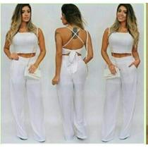Conjunto Feminino Top + Pantalona Frete Gratis Verao 2017