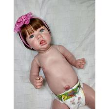 Bebê Reborn Saskia Toda De Vinil Siliconado