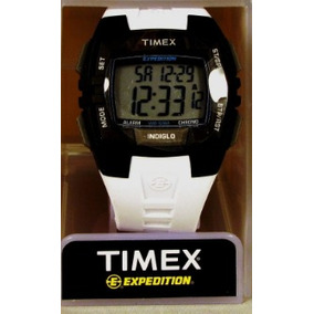 Reloj Timex Digital Para Hombre (t49901) Correa Blanca Miami