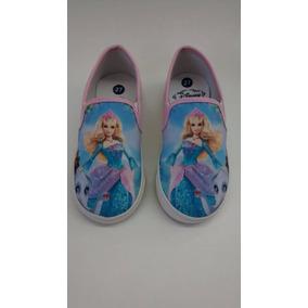 Sapatilha Tenis Infantil Criança Barbie Princesa, Promoção