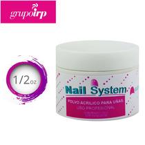 Polvo Acrilico Transparente Para Uñas De Nail System 1/2oz