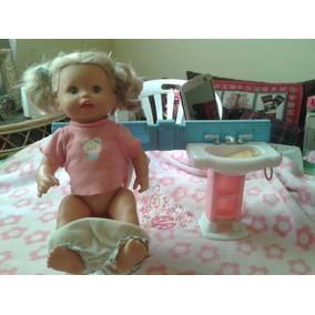 Muñeca Little Mommy Va Al Baño