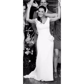 Vestido De Noiva Semi-sereia Em Seda Drapeada