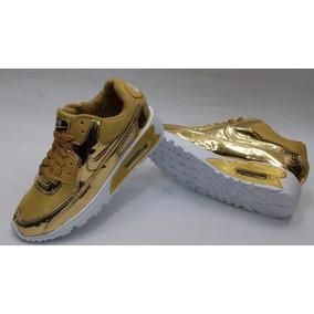Zapatos Nike Air Max Dorados.. Unisex!!