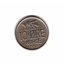 Noruega Moneda 10 Ore 1960 Km#411