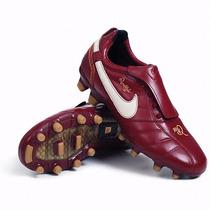 Taco Nike Tiempo Ronaldinho Fg Vino Piel Nuevo