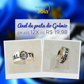 Anel Grêmio Prata 950