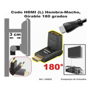 Zchd02 Codo Hdmi Hembra-macho Gira 180º Qchd02q Compu-toys