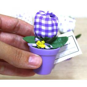8096 Lembrancinha De Maternidade Vaso Tulipa Lilás 10 Peças