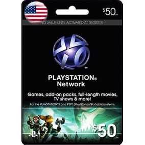 Playstation Network Gift Card Americana $50 Usd Ps2 Ps3 Ps4