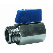 Mini Válvula Esfera 1/2 P Reduzida Macho - Femea Inox 316