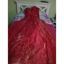 Vestido De 15 Años Nuevo ! Color Rojo
