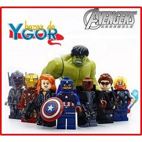 Kit Herois Hulk Homem De Ferro Arqueiro - Pronta Entrega