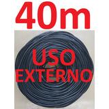 Cabo Rede Cat5e Preto 40m Uso Externo Net Lan Utp Montado