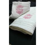Juego Toalla/toallon Bordado Personalizado Calidad Hotel