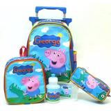 Kit Mochila Infantil George Pig Peppa Pig Rodinhas - Boleto